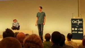 Raúl Krauthausen und Holger Dieterich auf der QtCon 2016.