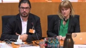 Die US-Experten Chris Soghoian und Amie Stepanovich im NSA-Ausschuss