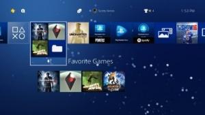 Das Playstation-4-Menü nach dem Update 4.0