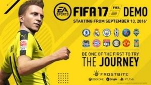 Werbeplakat für die Fifa-17-Demo
