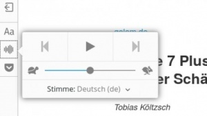 Firefox 49 nutzt die Sprachsynthese selbst zum Textevorlesen.