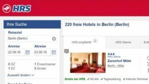 Deutsche Webseite von HRS