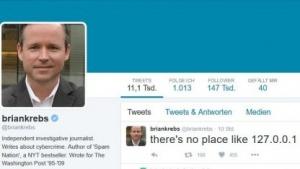 Wenigstens auf Twitter kann Brian Krebs noch aktiv sein.