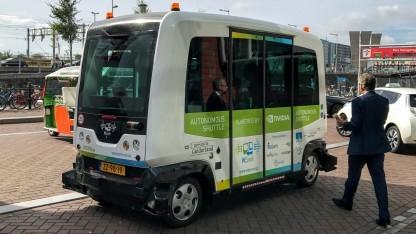 Der Wurbie, einer der Busse des niederländischen Unternehmens Wepod.