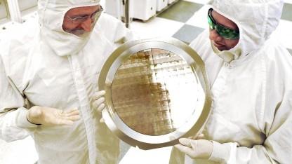 Wafer mit 7-nm-FinFET-Testchips