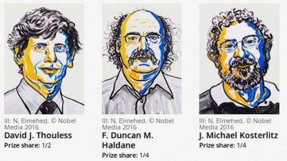 Die Nobelpreisträger in Physik von 2016