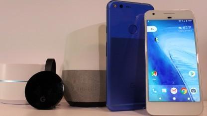 Google Assistant läuft auf Home und den Pixel-Smartphones.