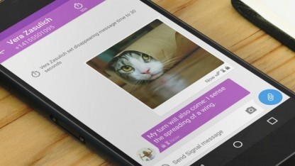 Signal kopiert Snapchat.