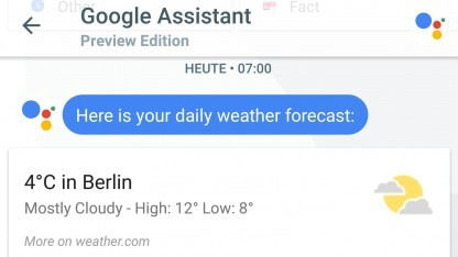 Der Google Assistant, hier als Chat-Partner in Googles Messenger Allo