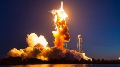Beim letzten Start explodierte die Rakete.