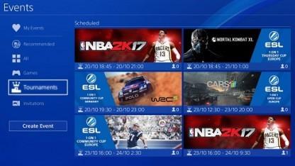 Die Tournament-Feature-App auf der Playstation 4.