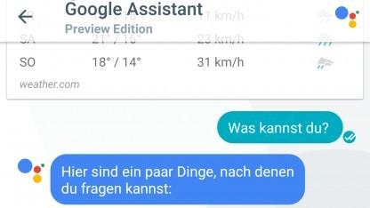 Der in Allo integrierte Google Assistant