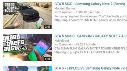 Das Galaxy Note 7 kann dank einer GTA-Mod als Granate verwendet werden.