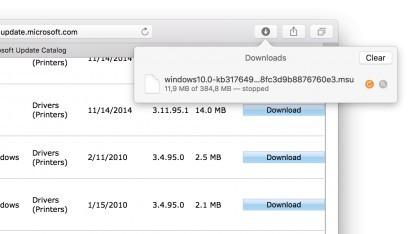 Der neue Update Catalog lässt sich mit Safari nutzen.