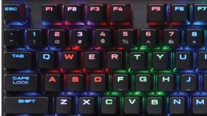 Tastatur mit Cherrys MX Speed RGB Silver