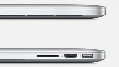 Das neue Einstiegs-Macbook-Pro ist das Gerät der letzten Generation samt SD-Kartenleser.
