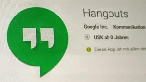 Hangouts verabschiedet sich aus den Kern-Google-Apps.