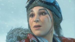 Lara Croft im Ingame-Intro von Rise of the Tomb Raider auf der PS4