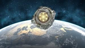 Ein Satellit soll das Territorium der Nation darstellen.