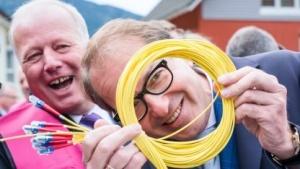 Netzausbau der Telekom mit Minister