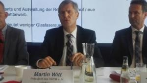 Martin Witt vom VATM und Topmanager von United Internet