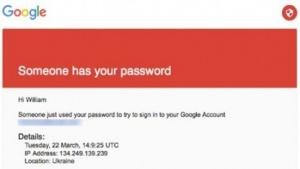 Der gefälschte Warnhinweis von Google.