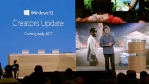 Microsoft kündigt das Creators Update an.