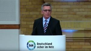 """Bundesinnenminister beim 10. Jahreskongress der Initiative """"Deutschland sicher im Netz"""""""