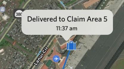 In der Delta-App wird die Position des Koffers genau angezeigt.