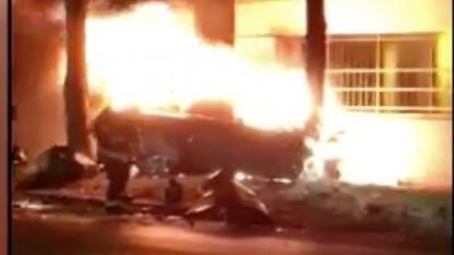 Tesla Model S in Flammen