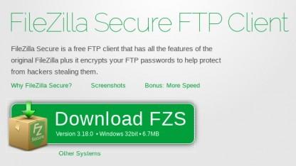 Filezilla Secure verspricht, Zugangsdaten verschlüsselt zu verwalten.