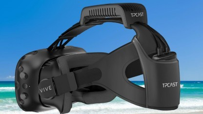HTC Vive mit Drahtlos-Kit von Tpcast