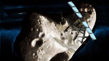 So stellen sich Maler den Weltraumbergbau vor