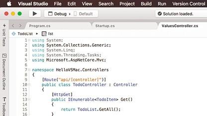 Visual Studio für macOS basiert auf Xamarin Studio.