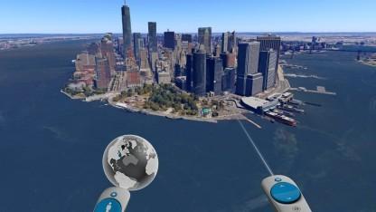 Im Anflug auf Manhattan