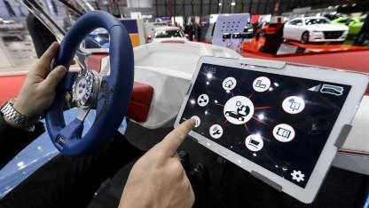 Tablet auf einer Automesse