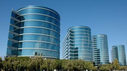 Die Oracle-Zentrale in Redwood-Shores in Kalifornien