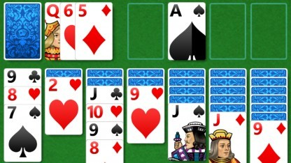 Die Microsoft Solitaire Collection auf einem iPhone 7