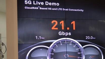 5G-Live-Demo auf dem MBBF16 in Tokio