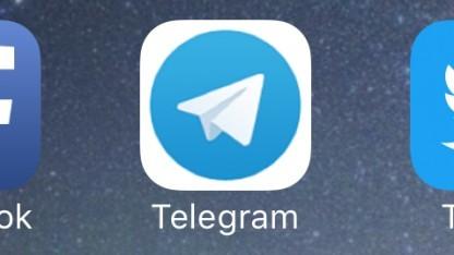 Logo der iOS-Version von Telegram
