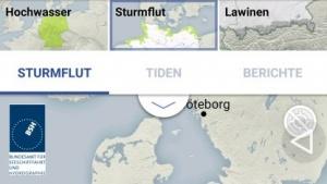 Warnwetter-App warnt vor Hochwasser, Sturmfluten und Lawinen.