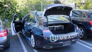 Das selbstfahrende Testauto von Udacity im Silicon Valley