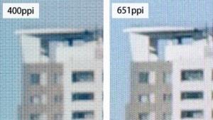 Japan Display zeigt die Pixeldichte seines Prototyps.