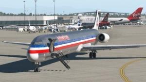 Die MD82 kann in X-Plane 11 geflogen werden. In der echten Luftfahrt verschwindet dieser Flugzeugtyp langsam.