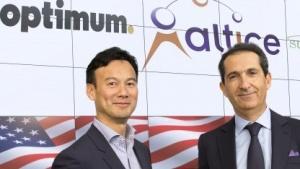 Altice-Chef Dexter Goei (links) bei der Bekanntgabe der Cablevisions-Übernahme