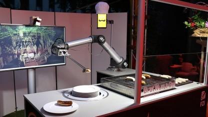 Der Bratwurst-Bot des FZI wurde mit ROS umgesetzt.