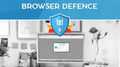 Browser Defence greift den Browser an.