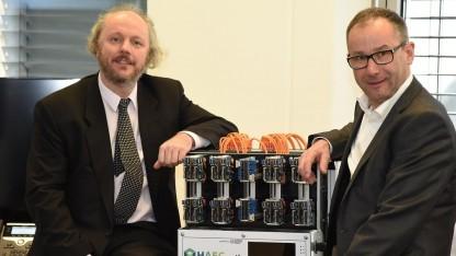 Frank Fitzek (links) und Bruno Jacobfeuerborn sprechen über die Pläne 2017.