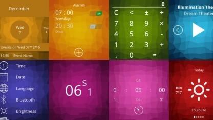 Einige Screenshots von Asteroid OS
