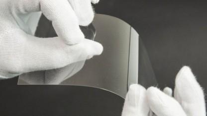Dünnstglas A87 Eco von Schott: prozesssicher bis 30 Mikrometer - dünner ist in Arbeit.